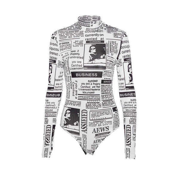 Newsprint Bodysuit