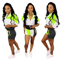 2 PC Short Tracksuit Set