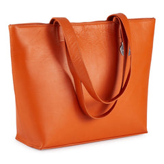 Style Iceland i orange. Stor shopper i et enkelt, klassisk design