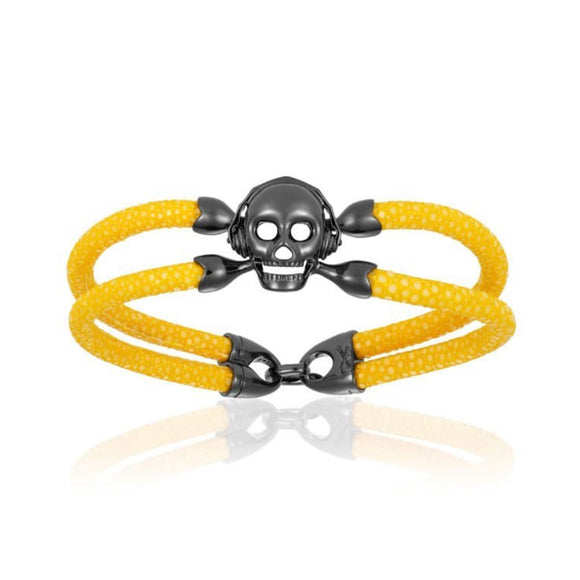 Pulsera Double Bone Skull