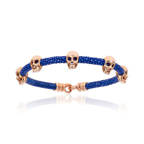 Pulsera Double Bone Multiple Skulls