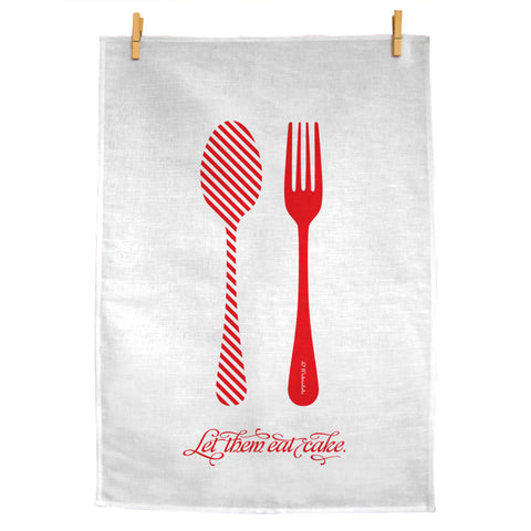Let Them Eat Cake Teatowel