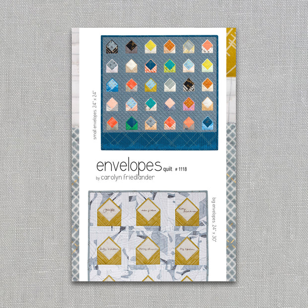 Envelopes - Quilt Pattern - Carolyn Friedlander - Printed Pattern