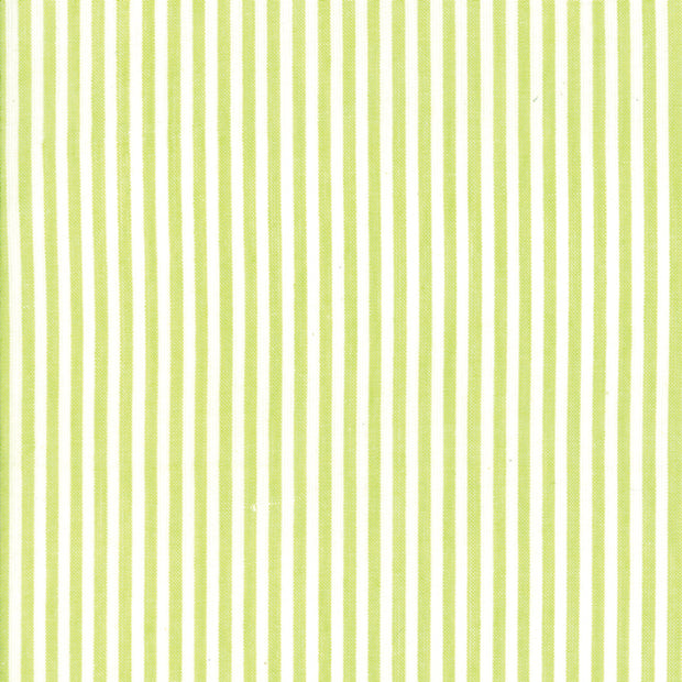 Bonnie and Camille Wovens - Stripe in Green - Bonnie and Camille for Moda - 12405 39 - Half Yard