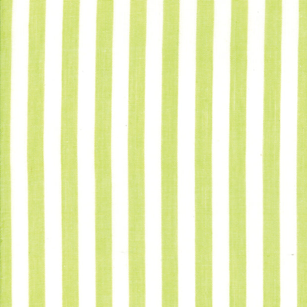 Bonnie and Camille Wovens - Large Stripe in Green - Bonnie and Camille for Moda - 12405 40 - Half Yard
