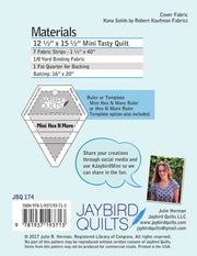 Mini Tasty - Jaybird Quilts - Paper Pattern - JBQ 174