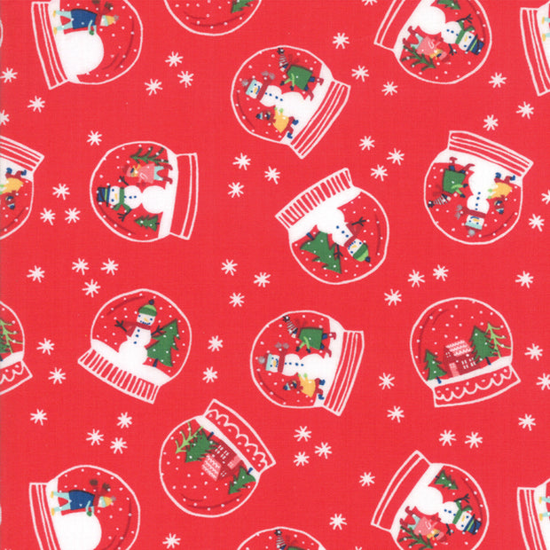 Snow Day - Snowglobe Magic in Candy - Stacey Iest Hsu for Moda - 20632 12 - Half Yard