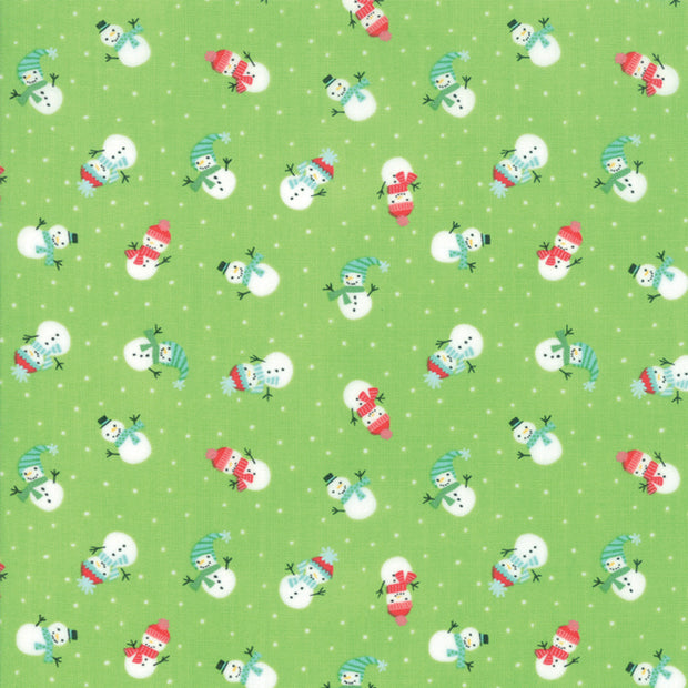 Snow Day - Lil Snowman in Sprig - Stacey Iest Hsu for Moda - 20634 16 - Half Yard