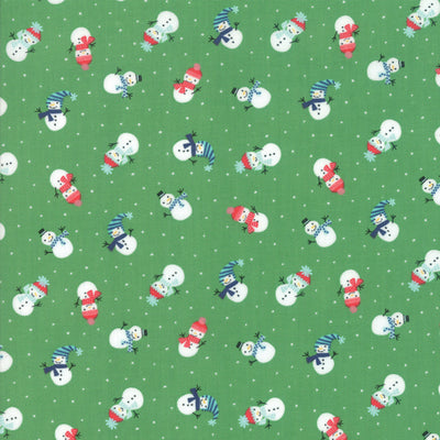 Snow Day - Lil Snowman in Kelly - Stacey Iest Hsu for Moda - 20634 17 - Half Yard