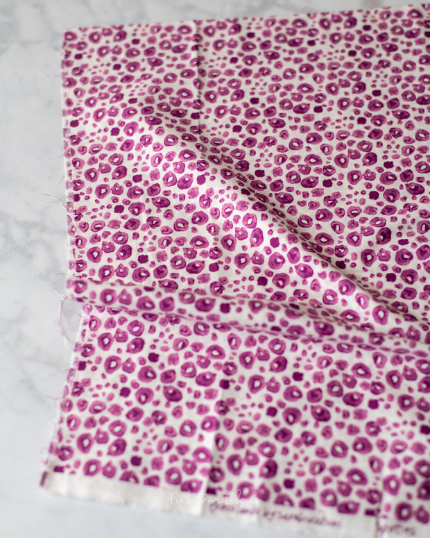 Grasslands - Spotties in Pink - Sarah Watts for Cloud 9 Fabrics - 226974 - Half Yard