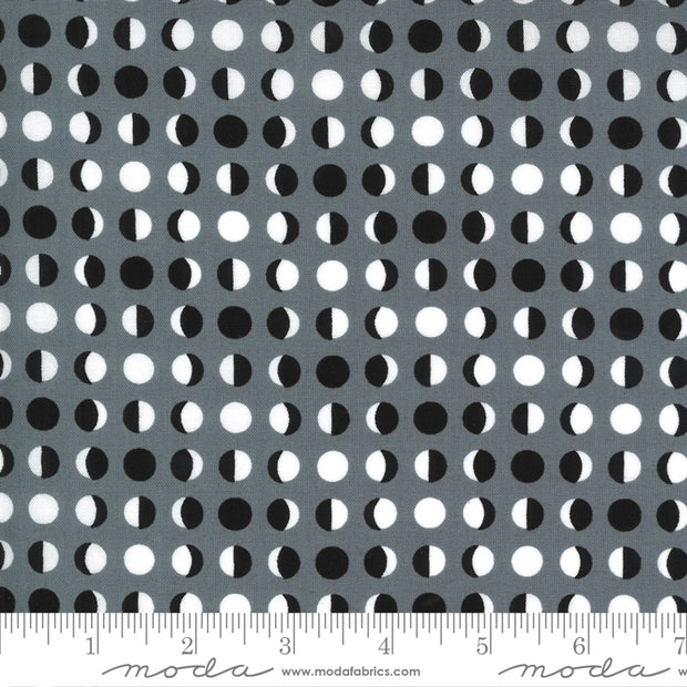 Midnight Magic 2 - Moon Dot in Mist - April Rosenthal for Moda Fabrics - 24104-18 - Half Yard