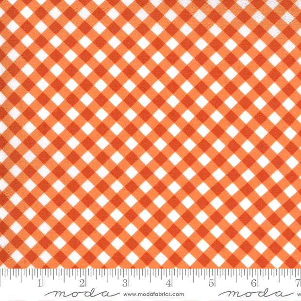 Midnight Magic 2 - Crisscross in Pumpkin - April Rosenthal for Moda Fabrics - 24107-11 - Half Yard