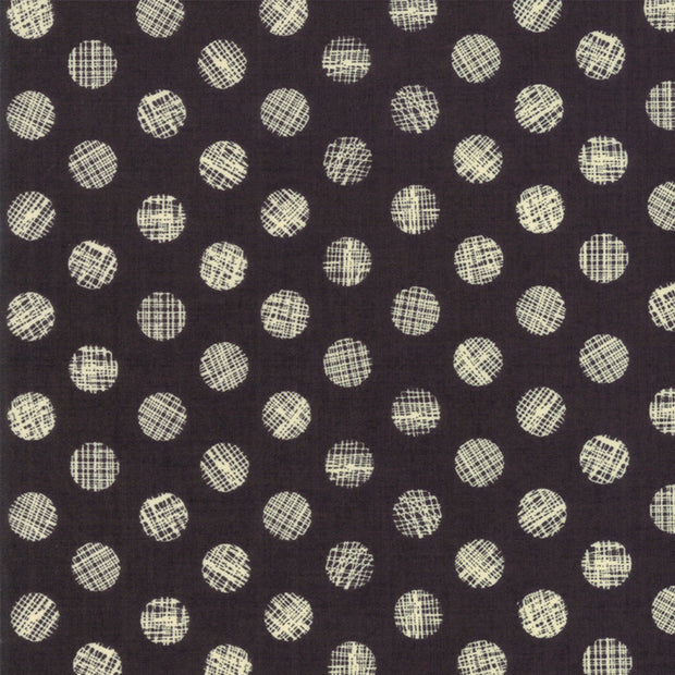 Hallo Harvest - Dots in Raven - Basic Grey for Moda - 30605 11 - Half Yard