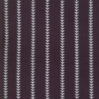 Urban Cottage - Triangle Stripe in Black - Woven - Urban Chiks for Moda - 31135 15 - 1/2 Yard