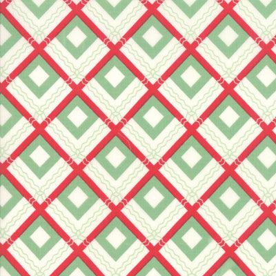 Sweet Christmas - Squares in Spearmint - Urban Chiks for Moda - 31153 11 - Half Yard