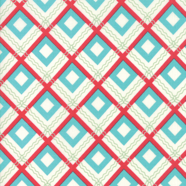 Sweet Christmas - Squares in Coolmint - Urban Chiks for Moda - 31153 21 - Half Yard