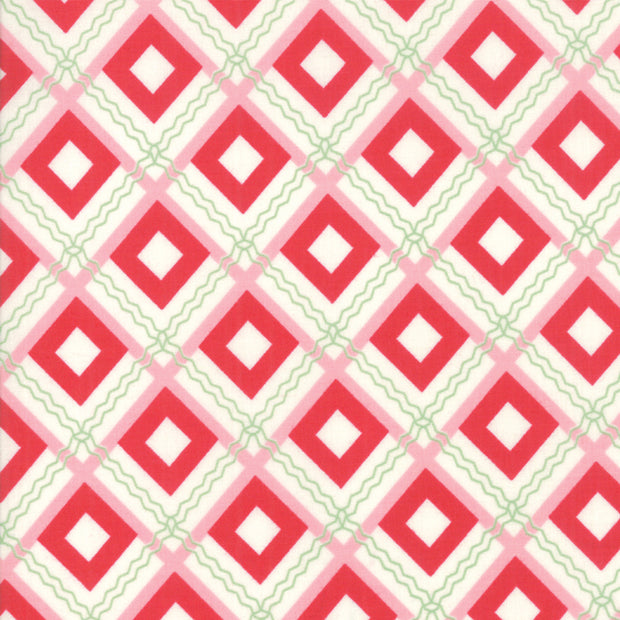 Sweet Christmas - Squares in Peppermint - Urban Chiks for Moda - 31153 22 - Half Yard