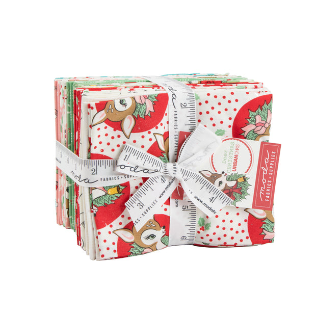 Deer Christmas - Fat Quarter Bundle - Urban Chiks for Moda - 31160AB