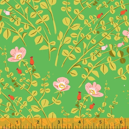 Heather Ross 20th Anniversary - Nanny Bee in Garden - Heather Ross for Windham - 37023A-5 - Half Yard