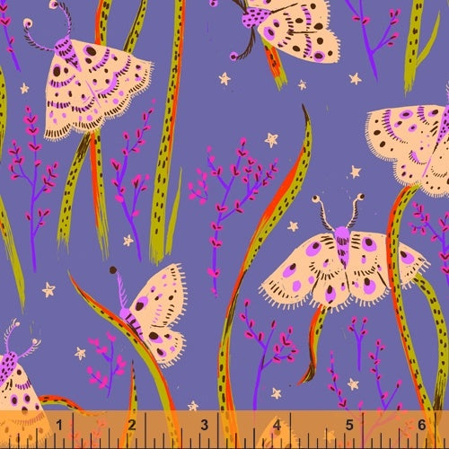 Heather Ross 20th Anniversary - Moths in Twilight - Heather Ross for Windham - 42210A-14 - Half Yard