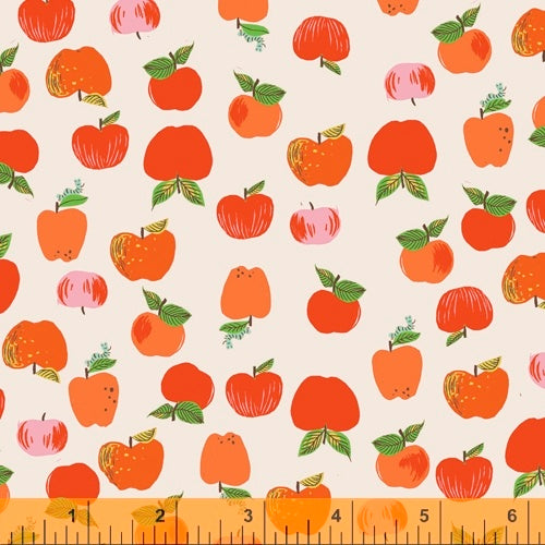 Heather Ross 20th Anniversary - Apples in Red - Heather Ross for Windham - 43483A-2 - Half Yard