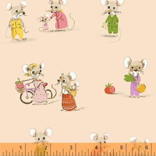 Trixie - Country Mouse in Blush - Heather Ross for Windham - 50897-2 - Half Yard