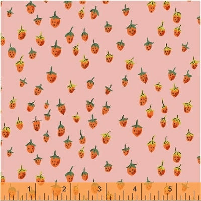 Trixie - Field Strawberries in Pink - Heather Ross for Windham - 50899-9 - Half Yard