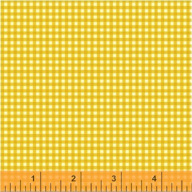 Trixie - Gingham in Gold - Heather Ross for Windham - 50900-12 - Half Yard