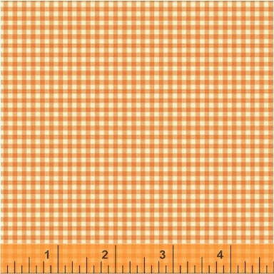 Trixie - Gingham in Tangerine - Heather Ross for Windham - 50900-13 - Half Yard