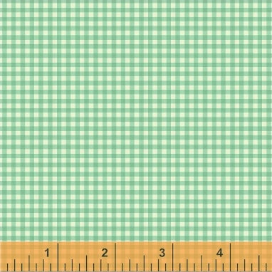 Trixie - Gingham in Aqua - Heather Ross for Windham - 50900-8 - Half Yard