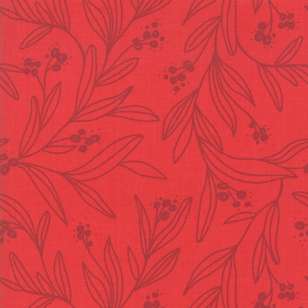 Little Tree - Letter in Cranberry - Lella Boutique for Moda Fabrics - 5093 13 - Half Yard