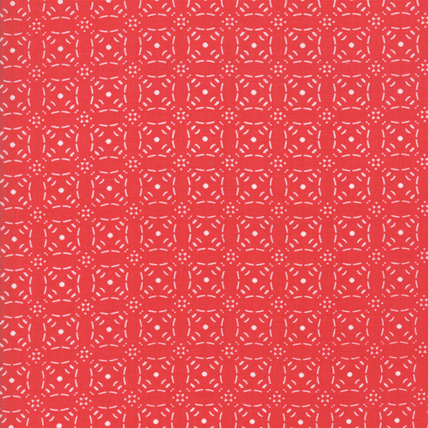 Little Tree - Tile in Red - Lella Boutique for Moda Fabrics - 5095 13 - Half Yard