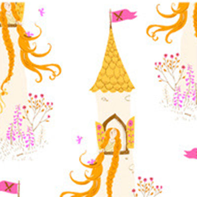 PRESALE - Far Far Away II - Rapunzel in White - Heather Ross for Windham - 51197-3 - Half Yard