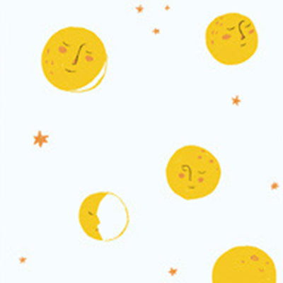 Far Far Away II - Moons in Yellow - Heather Ross for Windham - 51200-4 - Half Yard