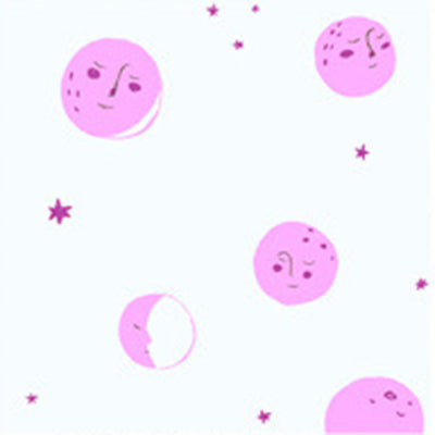 Far Far Away II - Moons in Pink - Heather Ross for Windham - 51200-9 - Half Yard
