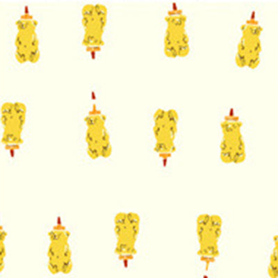 Far Far Away II - Honey Bears in Yellow - Heather Ross for Windham - 51201-4 - Half Yard