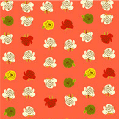 Far Far Away II - Roses in Red Orange - Heather Ross for Windham - 51203-10 - Half Yard