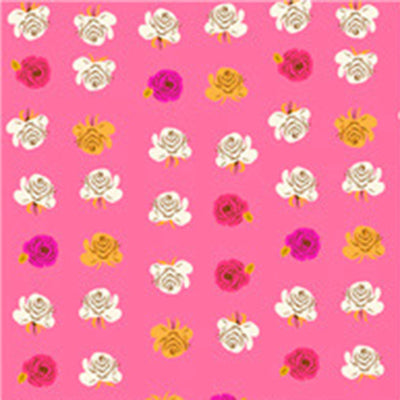 Far Far Away II - Roses in Hot Pink - Heather Ross for Windham - 51203-12 - Half Yard