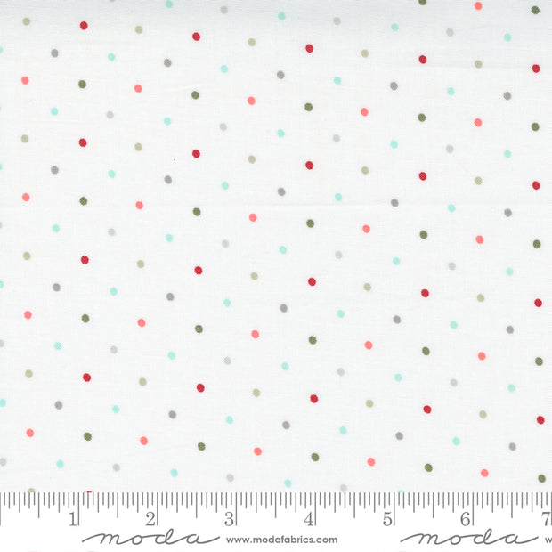 Christmas Morning - Magic Dot in Snow Multi - Lella Boutique for Moda Fabrics - 5147-11 - Half Yard