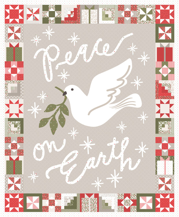 "Christmas Morning - 57"" x 69""  Peace on Earth Panel - Lella Boutique for Moda Fabrics - 5149-11P - Panel"