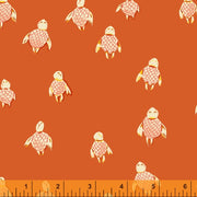 PREORDER - Malibu - Sea Turtles in Orange - Heather Ross for Windham - 52150-15 - Half Yard