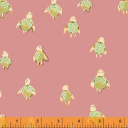 PREORDER - Malibu - Sea Turtles in Rose - Heather Ross for Windham - 52150-16 - Half Yard