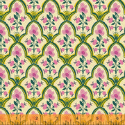 Malibu - Wood Block in Pink - Heather Ross for Windham - 52151-7 - Half Yard