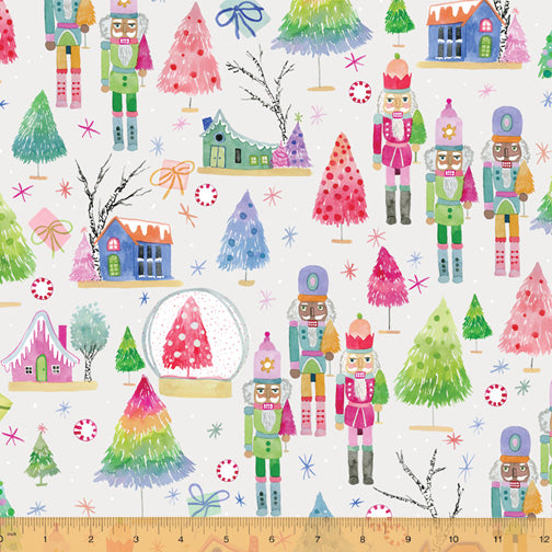 Wonderland - Nutcrackers in Snow - Betsy Olmsted for Windham Fabrics - 52583D-1 - Half Yard