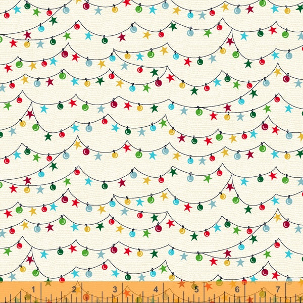 Winter Towne - Light the Towne in Ivory - Whistler Studios for Windham Fabrics - 52631-3 - Half Yard