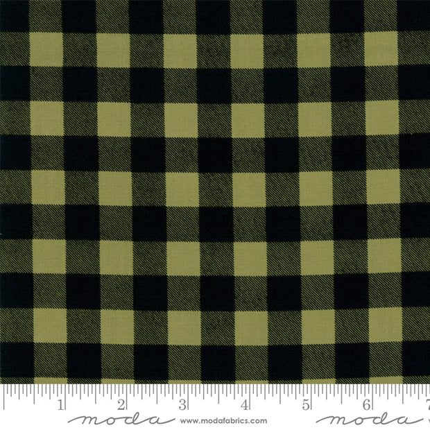 Overnight Delivery - Buffalo Plaid in Green - Sweetwater for Moda Fabrics - 5707 12 - Half Yard