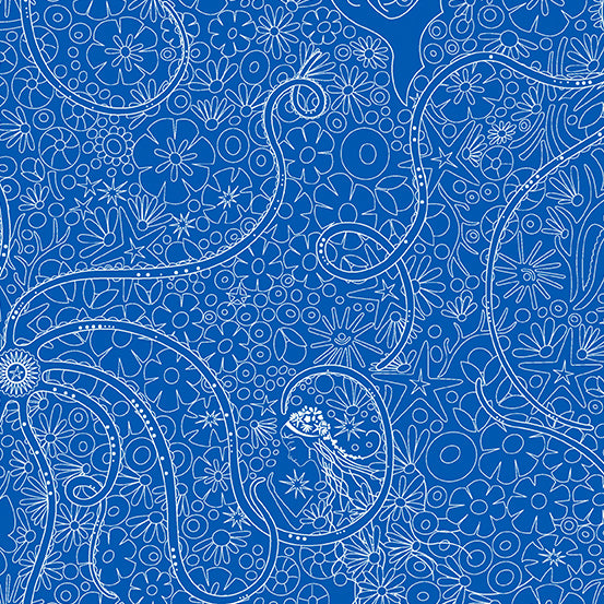 Sun Print 2018 - Depths in Morning Glory - Alison Glass for Andover Fabrics - A-8674-B - 1/2 Yard