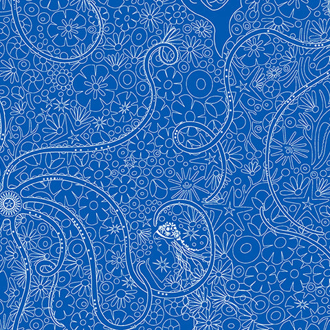 Sun Print 2018 - Diatom in Cosmos - Alison Glass for Andover Fabrics - A-8675-E - 1/2 Yard