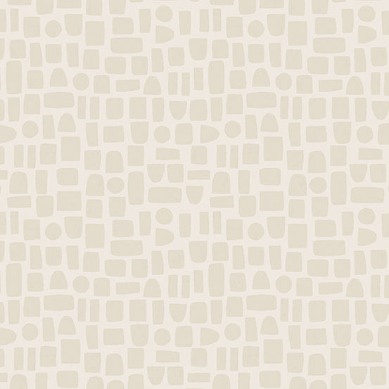 Perennial - Shapes in Eggshell - Sarah Golden for Andover - A-9568-C - Half Yard