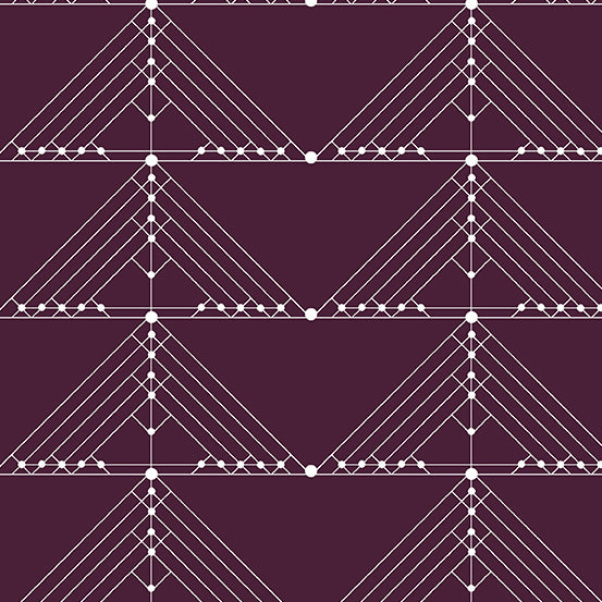 Deco - Geese in Aubergine - Giucy Giuce for Andover Fabrics - CS-30-AUBERGINE - Half Yard